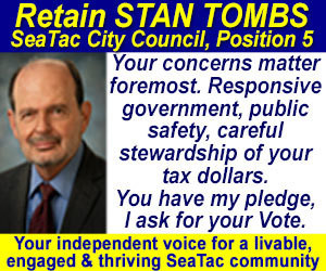 Retain Stan Tombs for SeaTac City Council